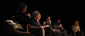 Gli invitati: da sinistra, Gabriele Dossena, Paolo Siani, Alessandro Galimberti, Giampiero Rossi e Giulia Minoli.