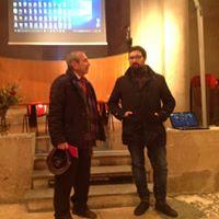Il presidente e fondatore del Museo della Macchina ds crivere Umberto Di Donato con l'Assessore alla Cultura Giacomo Galazzo