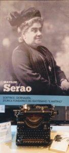 Il poster dedicato dal Festival delle comunicazioni a Matilde Serao.
